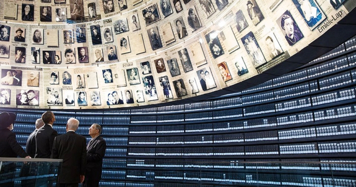 President Barack Obama in Israel at the Holocaust Museum in 2013