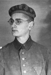 Mr. Bartoszewski during his time as a captive at the Auschwitz concentration camp